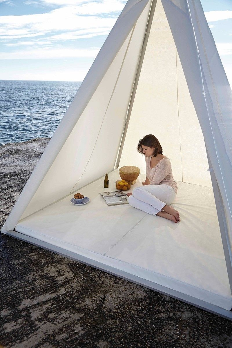 Pyramid-Shaped Tents