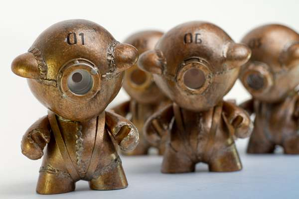 Upcycled Functional Robot Sculptures