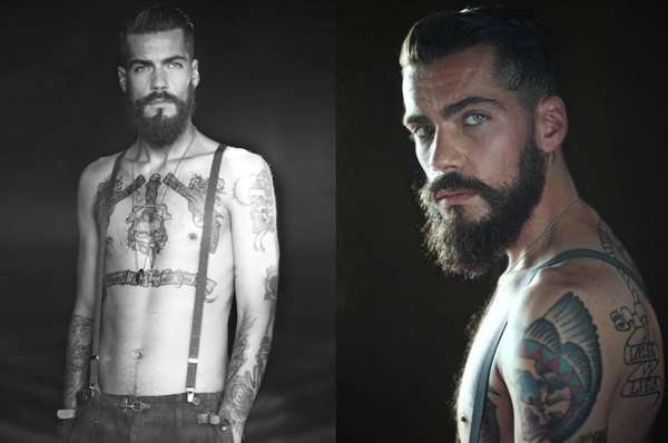 Inked Bearded Man Portraits