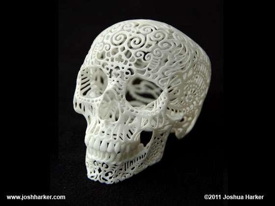 Doily Decal Skulls