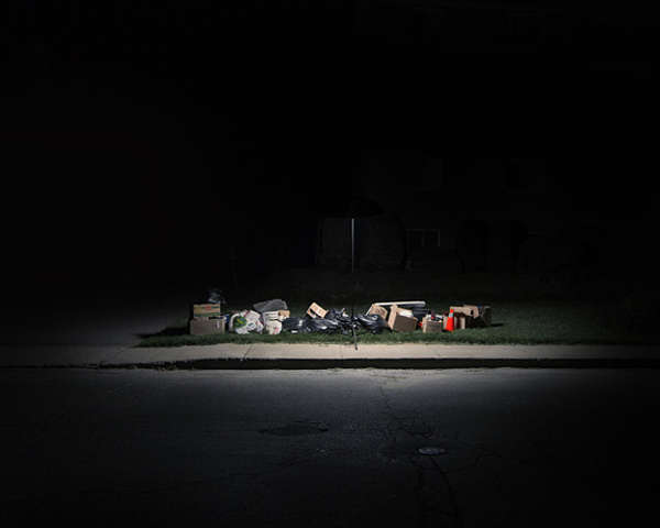 Nighttime Garbage Photography