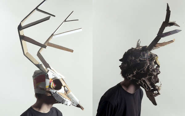 Cardboard Animal Masks
