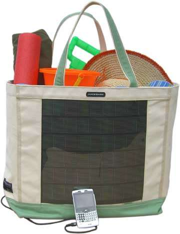 Solar-Powered Beach Totes