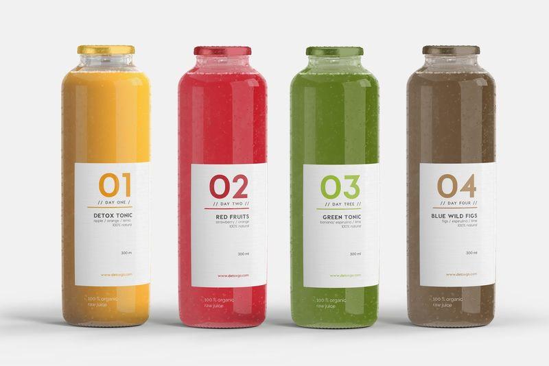 Vibrantly Branded Juice Detoxes