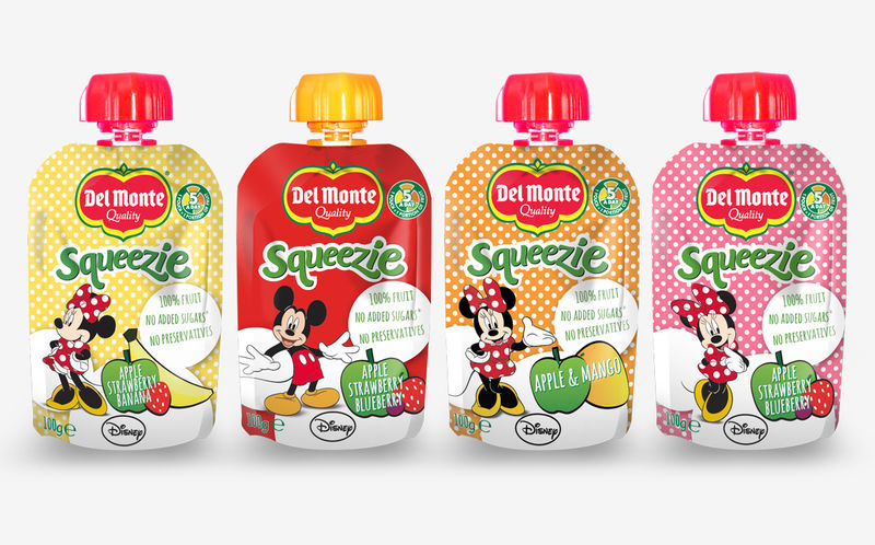 Disney-Branded Juice Pouches