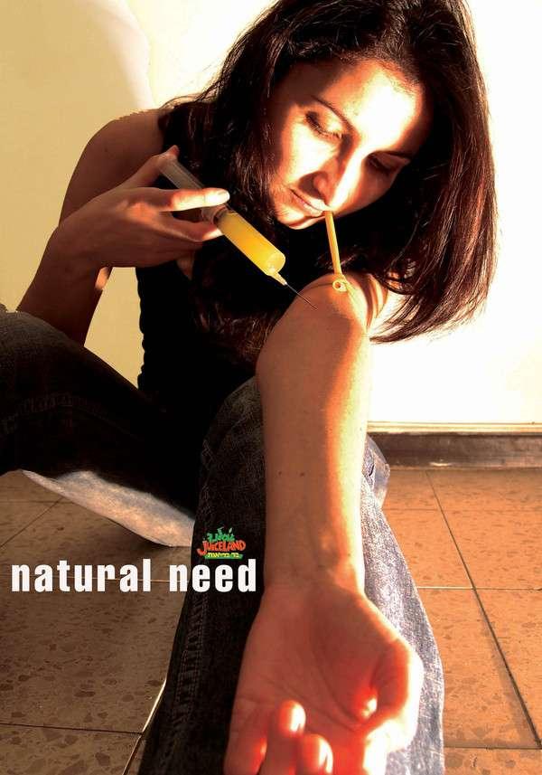 Injecting Wheatgrass Juice