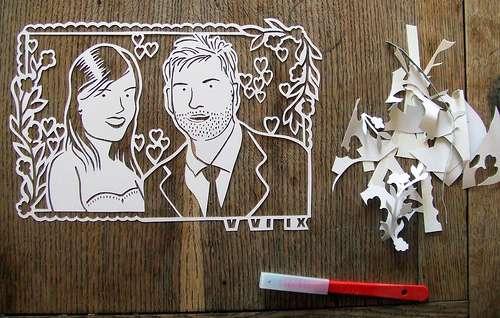 Ultra-Precise Papercut Portraits
