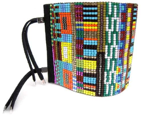 Colorfully Beaded Cuffs