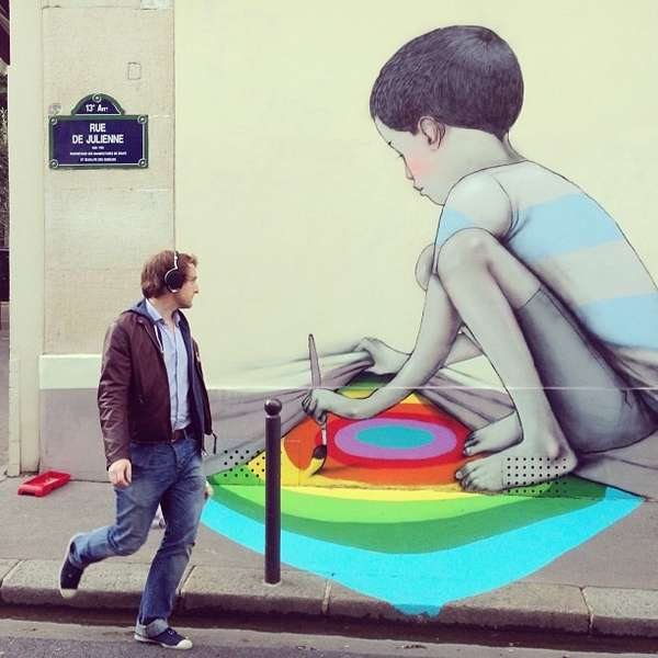 Playfully Childlike Street Art