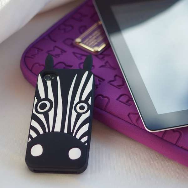 Whimsical Zebra Phone Cases