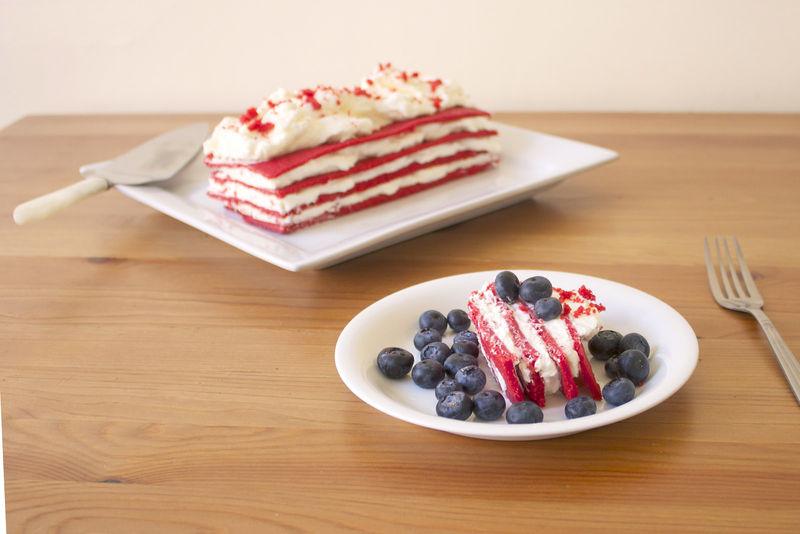 Patriotic Icebox Cakes