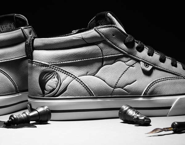 Vein-Covered Sneakers