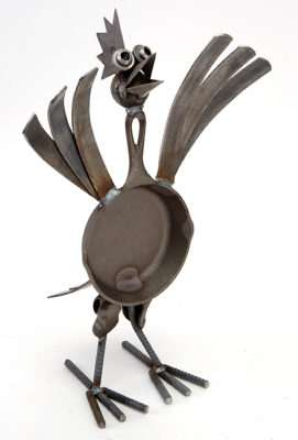 Junkyard Animal Sculptures Yardbirds 39 Are Scrappy Eco Critters
