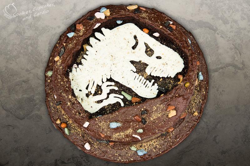 Dinosaur Fossil Cake Topper