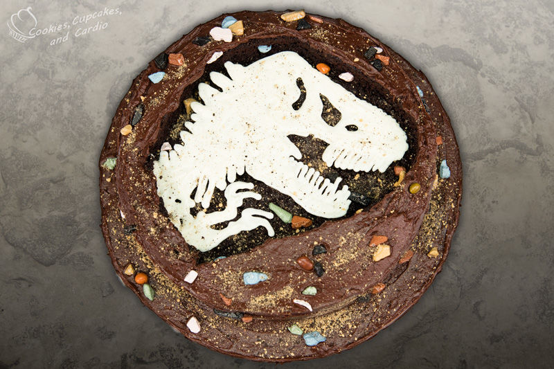 Dinosaur Fossil Cakes