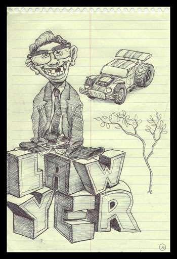 Distracted Juror Drawings
