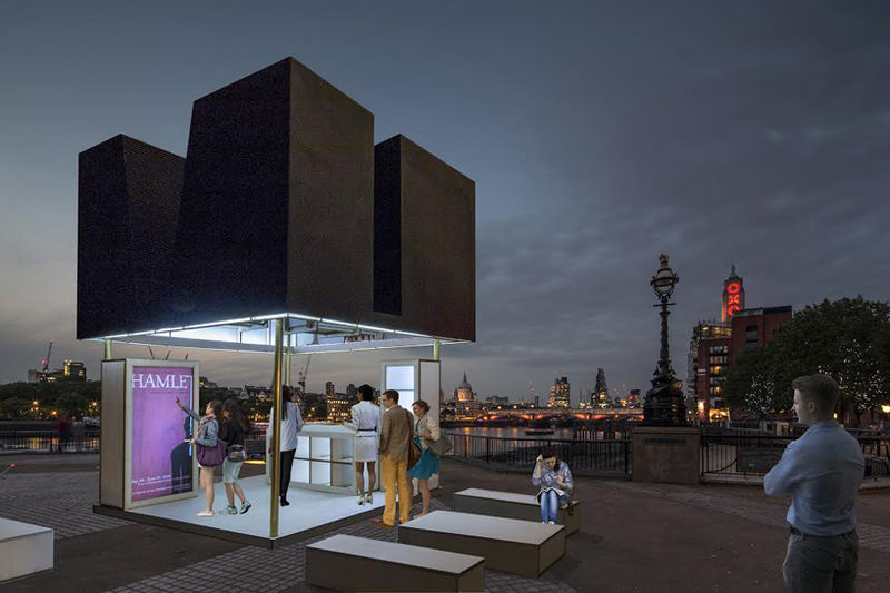 Furniture kiosk hybrids just a black box for Architecture kiosk design