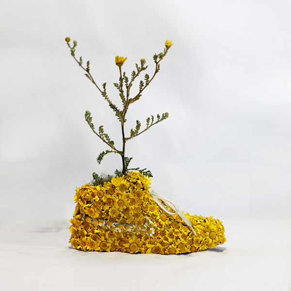 Floral Footwear Sculptures