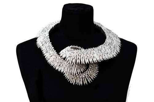 Sinuous Paper Necklaces
