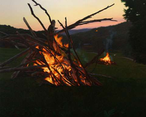 Blazing Bonfire Paintings