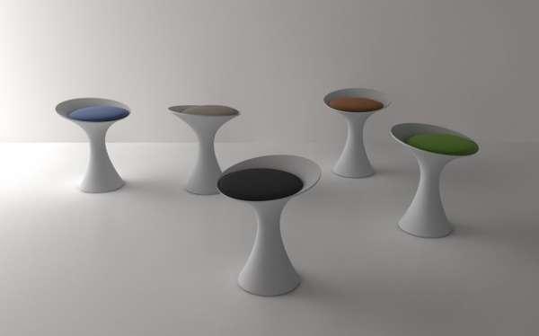 Mod Pedestal Stools