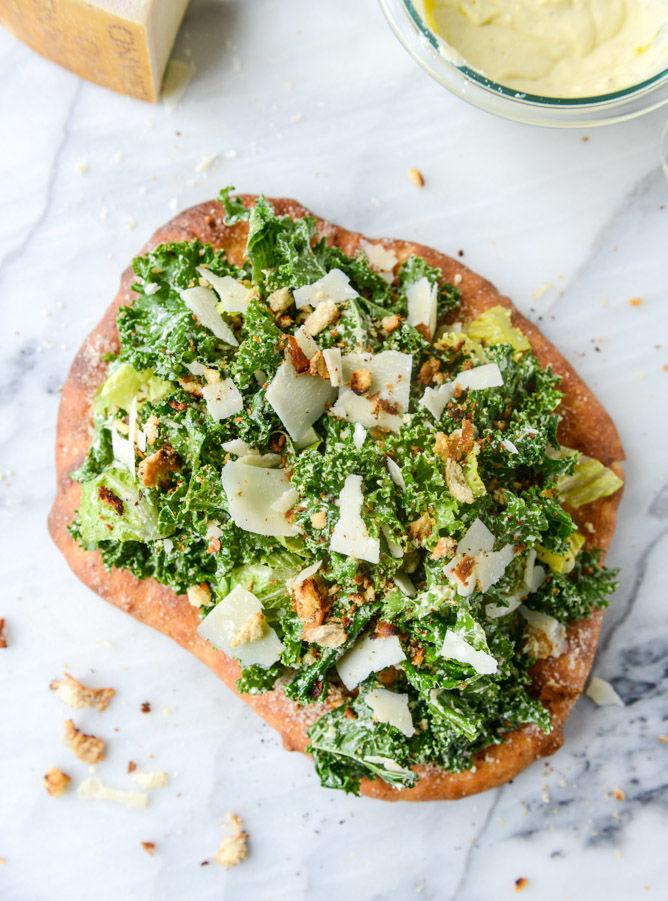 Caesar Salad Pizzas