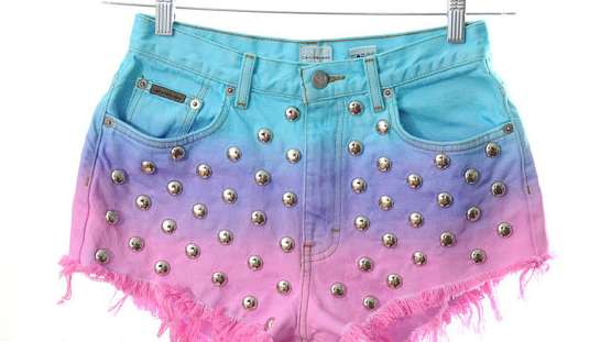 kaleidoscope eyes ombre shorts