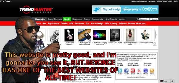 Kanye-Fied Websites