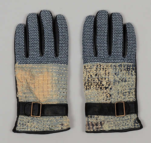 Purposely Tattered Leather Mitts