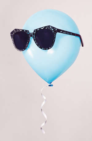 Sunglass-Wearing Balloons