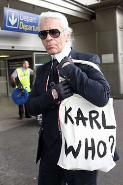 Celebrity Self Parodies Chanel S Lagerfeld Says Karl Who