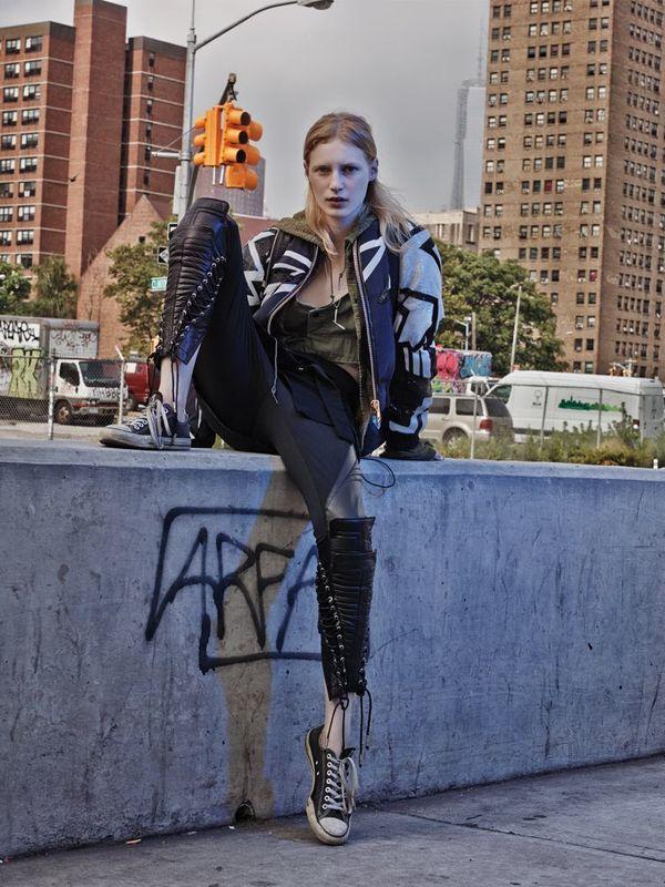 Dramatic Urban-Chic Fashion