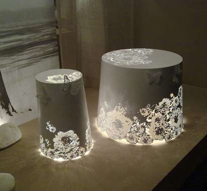 Elegant Lace-Like Luminaries