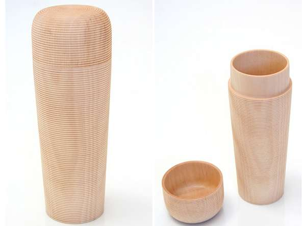 Rimmed Tea Containers