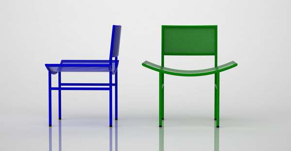 Avant-Garde Geometric Chairs