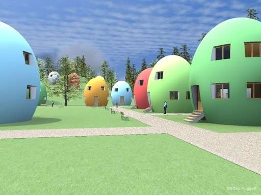 Eco Egg-Shaped Abodes