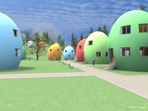 Eco Egg-Shaped Abodes