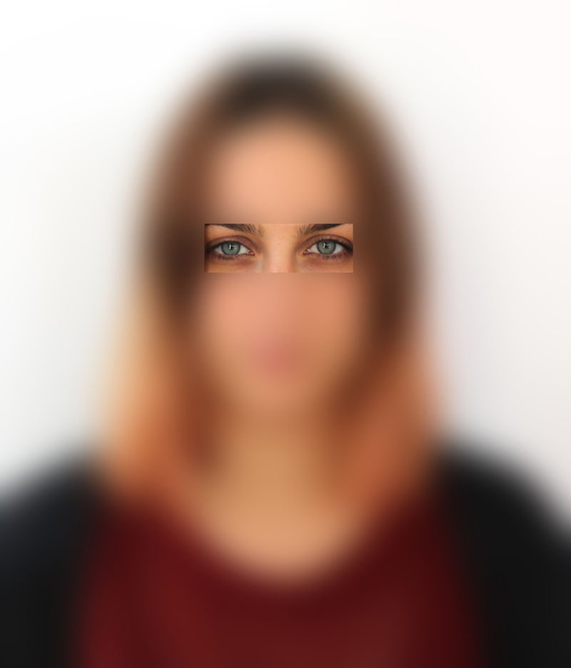 Blurred Facial Artwork