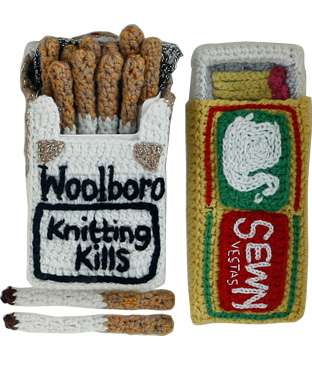 Knitted Cigarette Packs