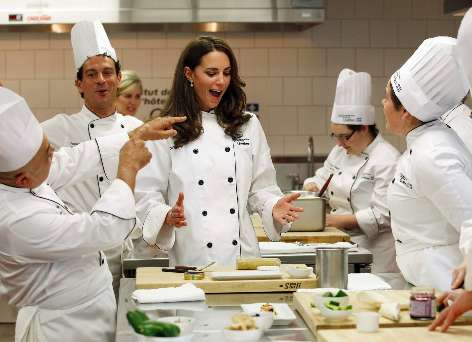 kate middleton cooking