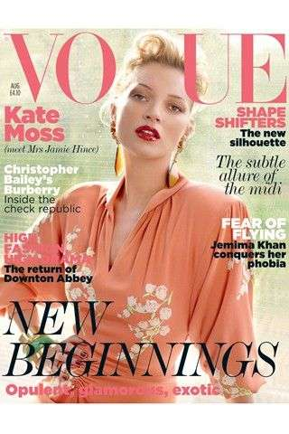 Kate Moss August 2011 Vogue UK