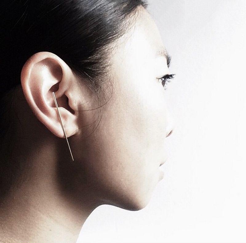 Minimalist T-Bar Earrings