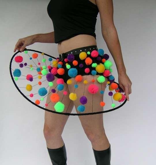 Neon Pom Pom Skirts