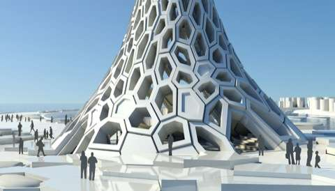 Tapered Hexagonal Towers