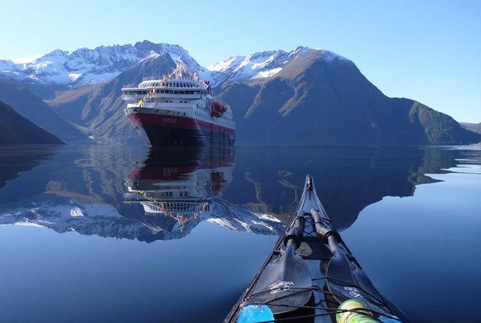 Reflective Kayak Photography