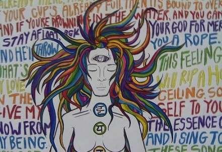 Psychedelic Mixed Media Art
