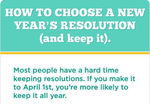 keep your New Year's Resolution