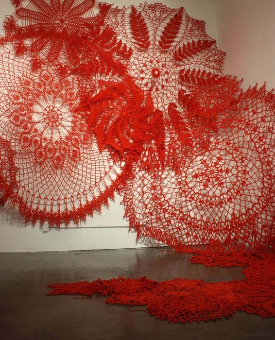 Giant Crocheted Dollies