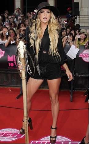 Ke$ha's Walking Stick