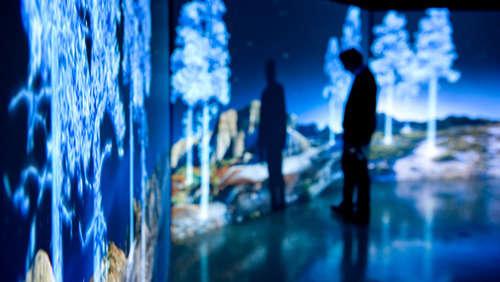 Holographic Neon Landscapes